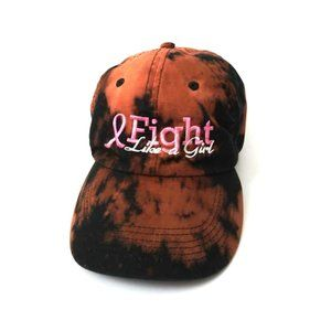 Upcycled Bleach Tie Dye Fight Like A Girl Dad Cap